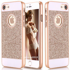Gold 3D Bling Glitter Sparkle Crystal Rhinestone Hard Case Cover F iPhone 8 Plus