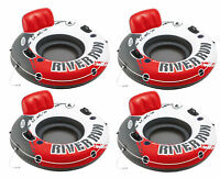 "Intex River Run 1 53"" Inflatable Floating Water Tube Lake Raft, Red (4 Pack)"