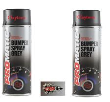 Promatic Bumper Spray Plastic Mid Grey Aerosol Can Paint 400ml BSG400 x2