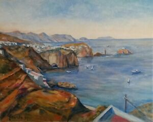 Isola di Ponza 1997 40x50 olio su tela