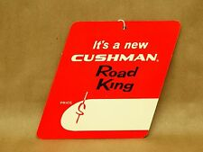 Vintage New NOS Cushman Scooter Road King Dealer Price Handlebar Tag 1961