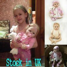 22'' Realistic Vinyl Soft Reborn Baby Lifelike Blond Hair Siliocne Newborn Dolls