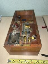 More details for i think this is  a vintage single wet cell battery quack device in oak case