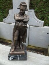 statue de Napoléon en fonte patinée bronze sur marbre ,nouveau !