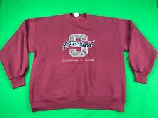 VINTAGE RARE SUBWAY JERZEES PULLOVER SWEATSHIRT, SIZE XL, MADE IN USA, EUC