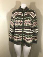 Vintage Fair Isle Sweater Zip Cardigan Casual Corner Annex Women's Medium