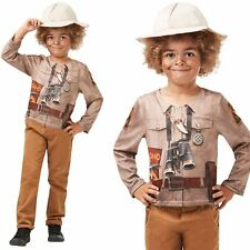 Child Dino Explorer Dinosaur Adventurer Boys Girls Fancy Dress Costume