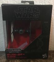 Star Wars Titanium Series Model #04 First Order Fighter & Stand In Original Box