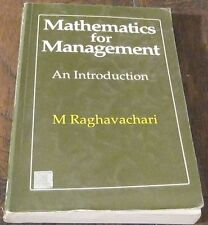 Business economics college workbook study guide textbooks mathematics for management an introduction by m raghavachari tata mcgraw hill fandeluxe Gallery
