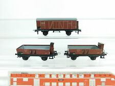 bc929-0, 5 #3X Trix Express H0/DC FREIGHT CAR DRG : 2071 Halle +2074 Kassel