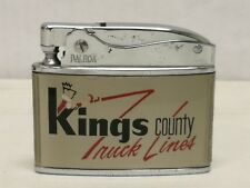 Flat Advertising Lighter Kings County Truck Lines RARE Made In Japan