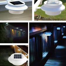 3 LED Solar Powered Gutter Light Outdoor/Garden/Yard/Wall/Fence/Pathway Lamp USA