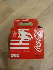 2012 London Olympics Game Coca Cola USA Coke 4 Bottles Empty Paper Carton