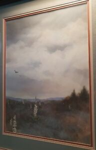 LARGE ORIGINAL SIGNED WATERCOLOR M. VANDER MOLEN FRAMED RARE ART SOUTHWEST