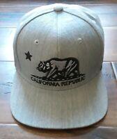 California Republic Premium Bear  Embroidered Snapback Adjustable Cap