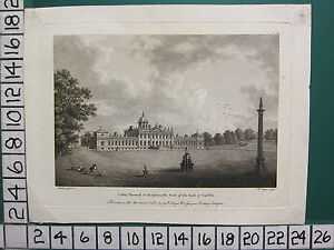 1787 DATED ANTIQUE YORKSHIRE PRINT ~ CASTLE HOWARD ~ SEAT OF EARL OF CARLISLE