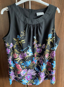 Wallis silky floral sleeveless top/tunic Camisole size 14