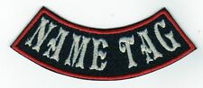 "Custom Mini Bottom Rocker 4"" Name Tag Embroidered Patch"