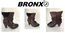 Ladies Boots Bronx Rock Montone Coffee Size Uk3 New Free Delivery