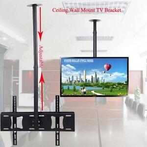 Heavy Duty TV Roof Ceiling Mount Bracket Tilt Swivel 32 40 43 49 50 55 70 inch