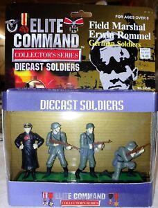 Blue Box Toys, Elite Command Series ERWIN ROMMEL, W/GERMAN Soldiers Set of 4.
