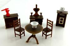 Melody Jane Dolls House Miniature 1:48 Plastic Kitchen Furniture Set