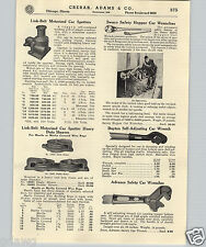 1937 PAPER AD Link Belt Motorized Railroad Car Spotter Mover Swaco Hopper Wrench