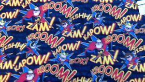Incredibles Disney Pixar Print Flannel Fabric 11 Yards NEW Kapow! Zam!