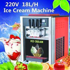 3 Saveurs de crème glacée Machine Commerciale Soft Frozen cône Ice Cream Maker 220 V 18 L