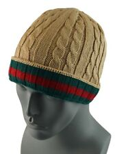 Winter Knit Twist Cable Short Beanie Hat Mens Ski Snow Board Skull Cap - Camel