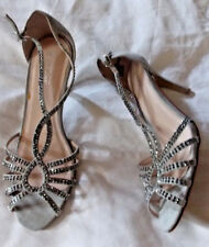 Fiore, Grey faux suede, Silver studded, PeepToes. 3.5'' heel. Size 7.