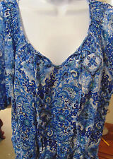 Croft & Barrow Women's Blue Floral Top Large with lining