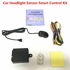 Car Automatic Headlight Headlamp ON/OFF Switch Light Sensor Smart Control Kit