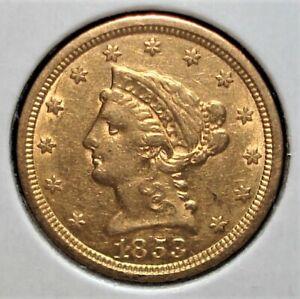 1853 Gold US $2.50 Liberty Head Quarter Eagle Coin