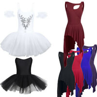 Women Adult Ballet Dress Tutu Stage Skirt Dance Dress Leotard Dancewear Costume