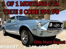 1967 Ford Mustang GT 390 GTA BIG BLOCK 1 OF 1 DELUXE INTERIOR
