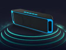 AudioBLUE-Wireless Bluetooth Rechargeble Speaker-TF-FM Radio-Stereo MP3 Player
