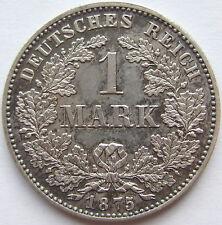 Top! 1 Mark 1875 H dans revêtit/tampon brillance très rare!!!