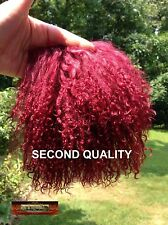 M00326 MOREZMORE Tibetan Lamb Fur ROSEWOOD PURPLE Seconds Doll Baby Hair T20