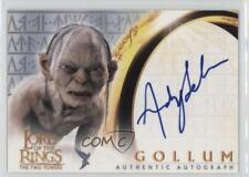 2002 Topps The Lord of the Rings Two Towers #ANSE Andy Serkis as Gollum Auto m1k