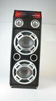 Lautsprecher von Karaoke Anlage Solist 60W 90cm hoch 2 fette Tieftöner Q1-248