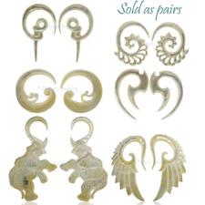 Shell Ear Spiral Hanger Stretcher Earrings Mother of Pearl Taper plug Tunnel