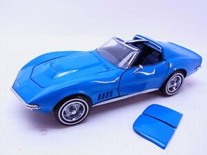 85959 Franklin Mint 1968 Chevrolet Corvette T-Dach Modellauto 1:24 gebraucht