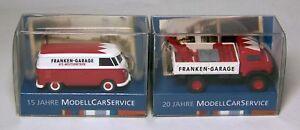 "Wiking Special Models: UNIMOG S 404 / VW T1 Box "" Franken-Garage - Garage """