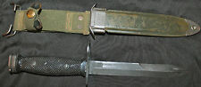 VIETNAM ERA US ARMY M7 BOC BAUER ORDNANCE CO KNIFE WITH V P CO M8A1 SCABBARD