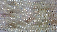 Joblot 10 strings (1200 beads) 4mm White Clear AB Bicone Crystal beads new
