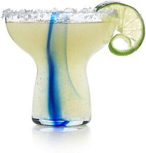 NEW Libbey Blue Ribbon Stemless Margarita Glasses, Set of 6