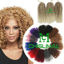 "Hair Extensions 8"" Curly Wavy Braiding Crochet Twist Braids Synthetic Omber Hair"