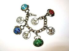 CHARM CHUNKY FOB BRACELET LIONS GLITTER CHUNKY LUCITE CHARMS VINTAGE REGAL