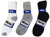 4 or 12 Pairs Mens Socks Sport Crew Cotton Solid Color 1 Dozen Pack Full Length